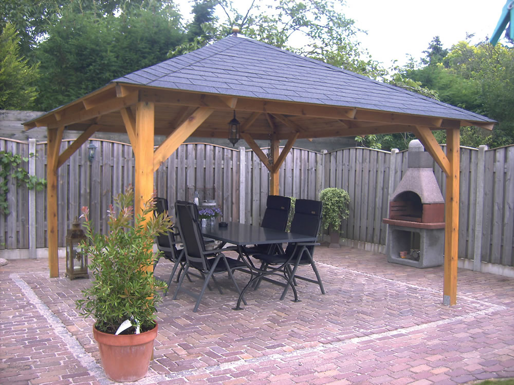 gazebo in the back garden