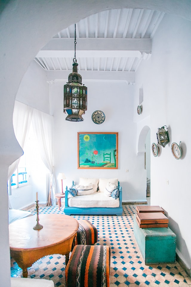 A Moroccan-style living room