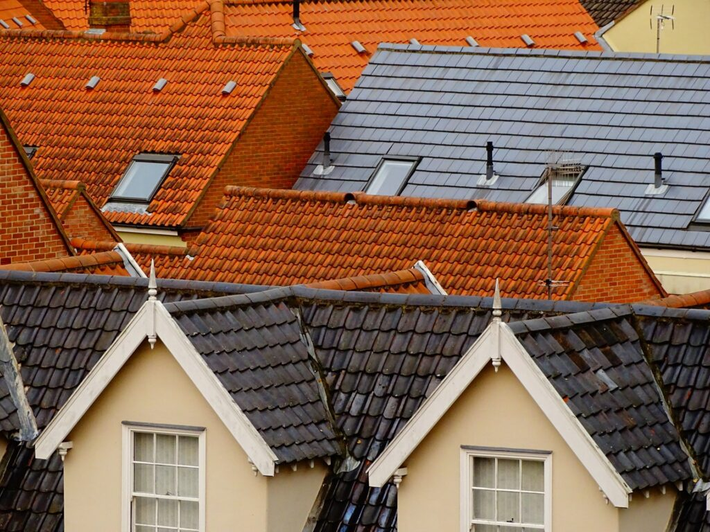 Different roofing materials for a historic house