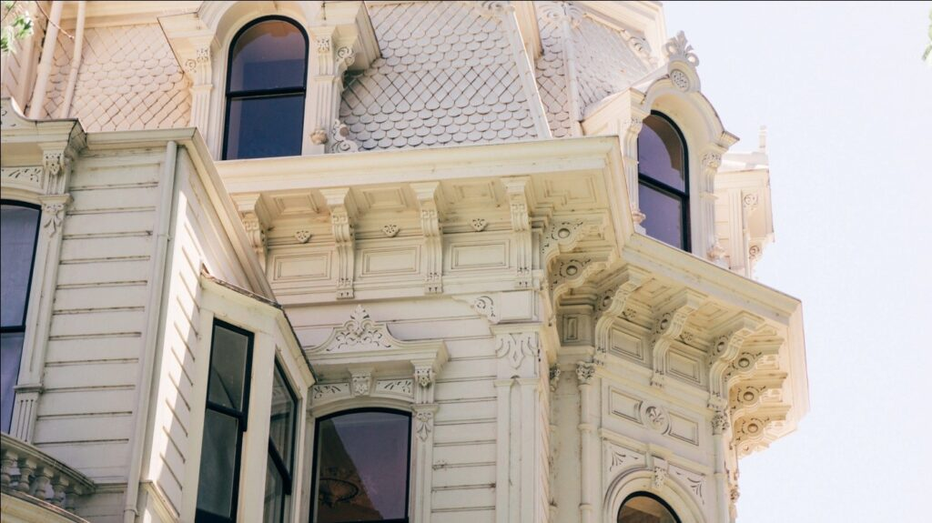 Victorian style home with modern roofing materials
